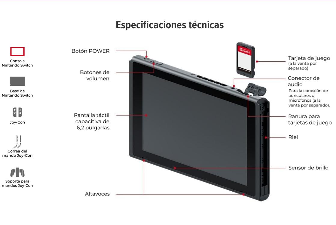 especificaciones tecnicas de nintendo switch tienda online shop