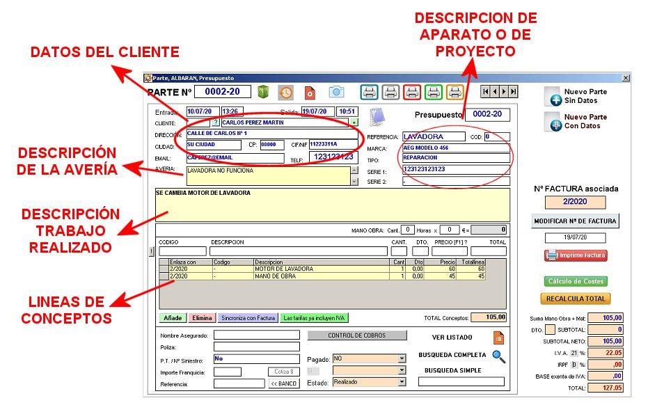 Softgestion programa facturacion Pantalla